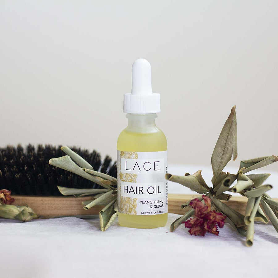 Ylang Ylang & Cedar Hair Oil - Whiskey, Ink, & Lace