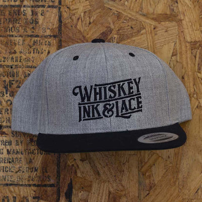Grey/Black Classic Flat Bill Snapback Hat