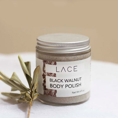 Black Walnut Mint Body Polish - Whiskey, Ink, & Lace