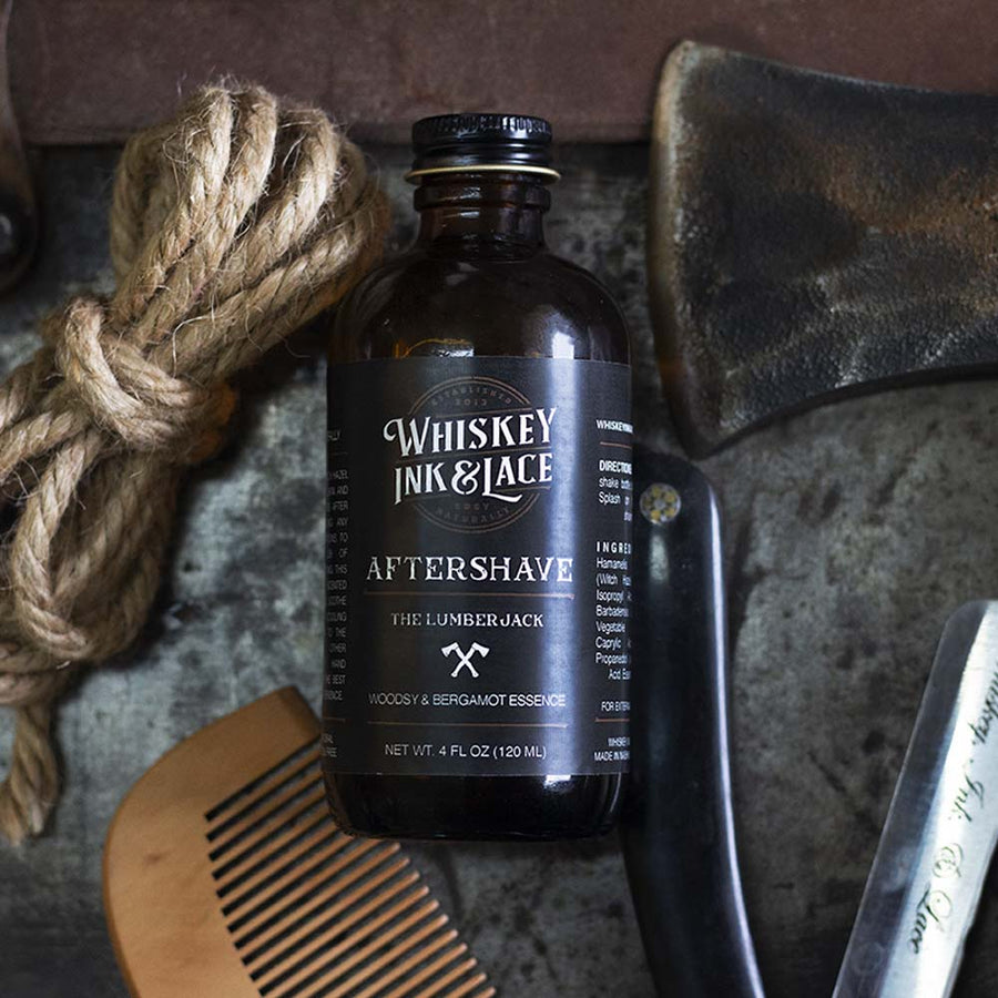 The Lumberjack Aftershave - Whiskey, Ink, & Lace