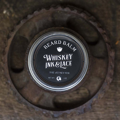 The Jetsetter Beard Balm - Whiskey, Ink, & Lace