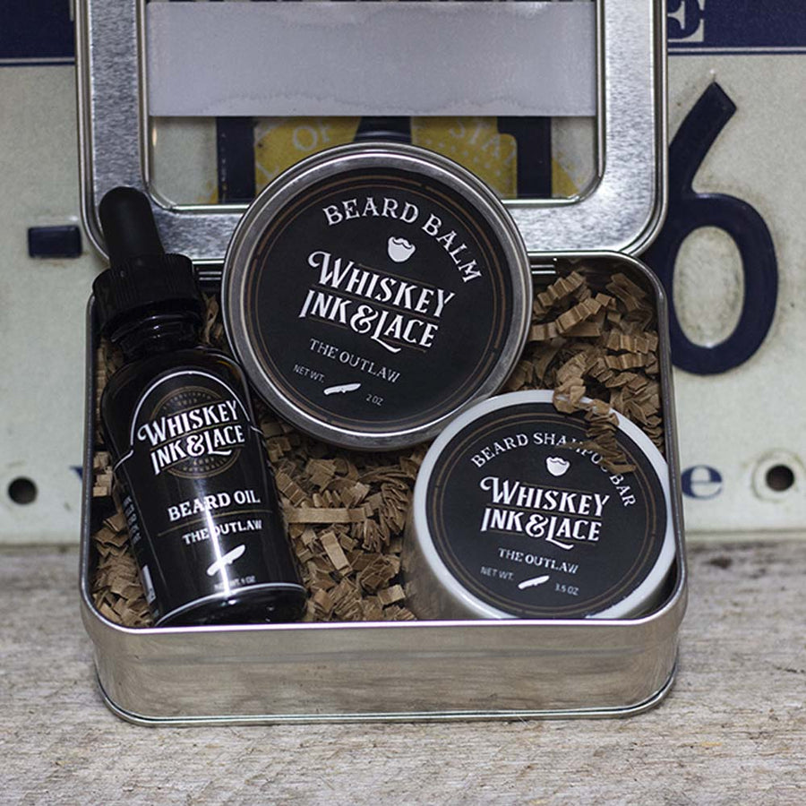 The Outlaw Beard Kit - Whiskey, Ink, & Lace