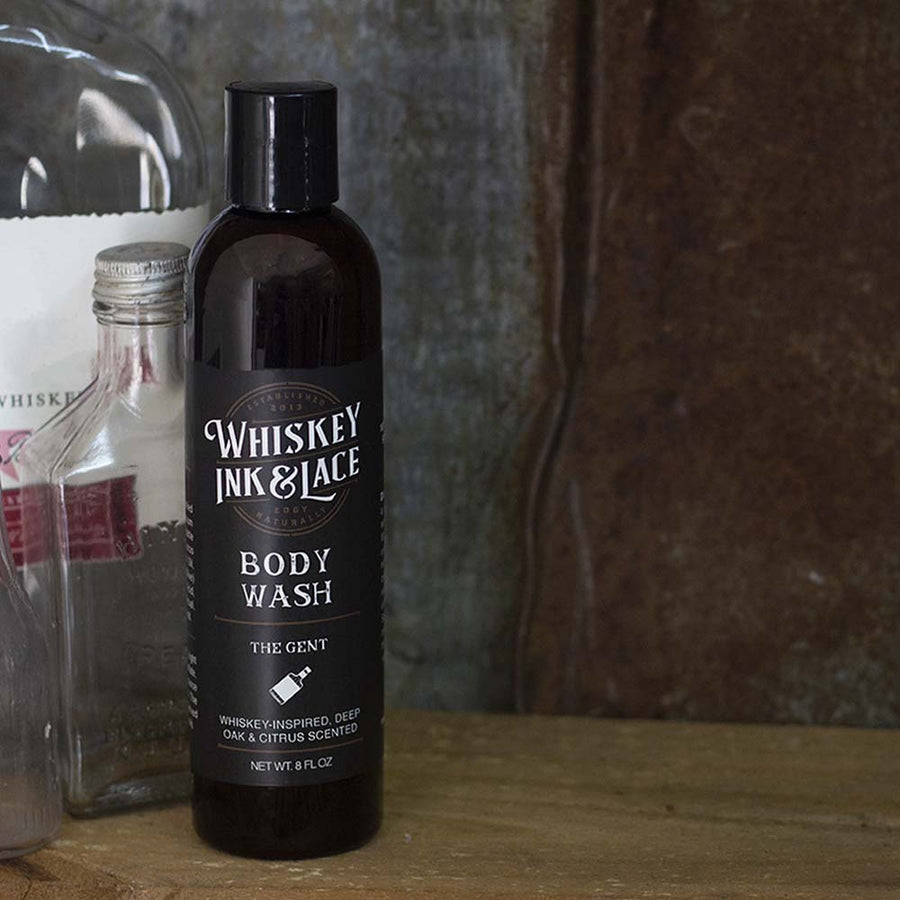 The Gent Body Wash - Whiskey, Ink, & Lace