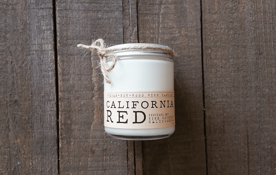 California Red Wood Wick Candle - Whiskey, Ink, & Lace