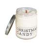 Christmas Candy Wood Wick Candle - Whiskey, Ink, & Lace