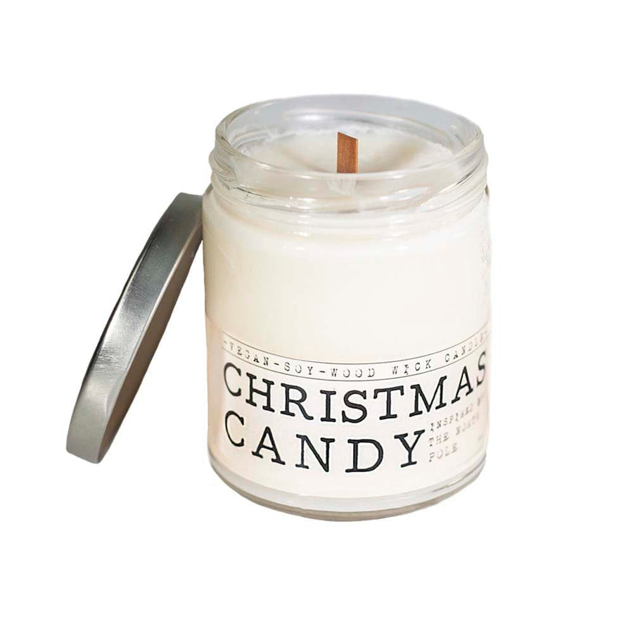 Christmas Candy Wood Wick Candle