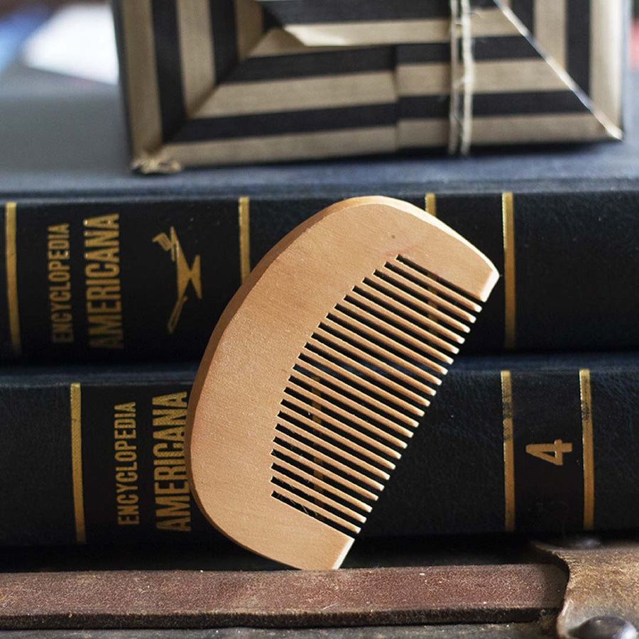 Mini Wooden Beard Comb - Whiskey, Ink, & Lace