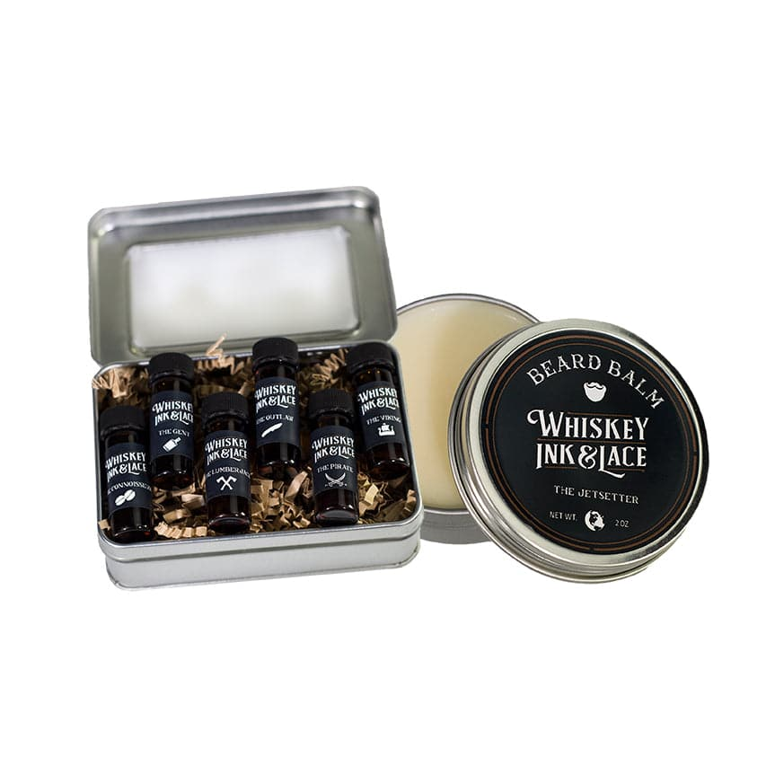 Full Beard Oil Sampler Kit - Whiskey, Ink, & Lace