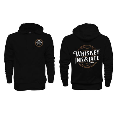 Unisex Black Hoodie Sweatshirt - Whiskey, Ink, & Lace