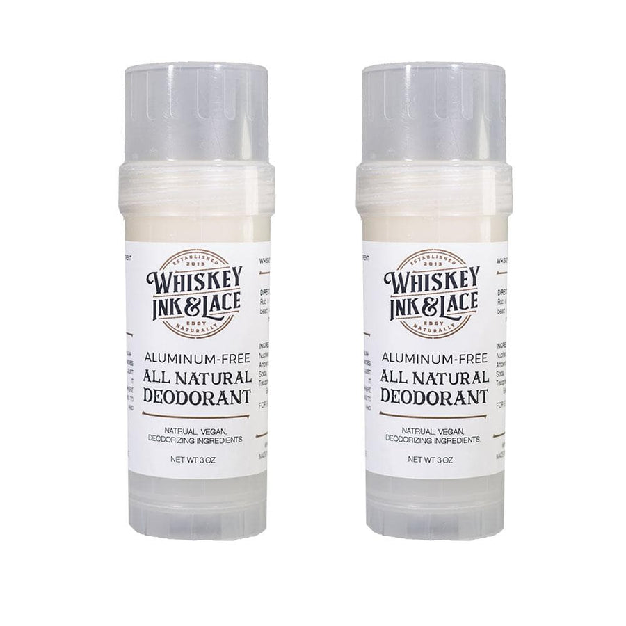 Natural Deodorant 2 Pack - Whiskey, Ink, & Lace