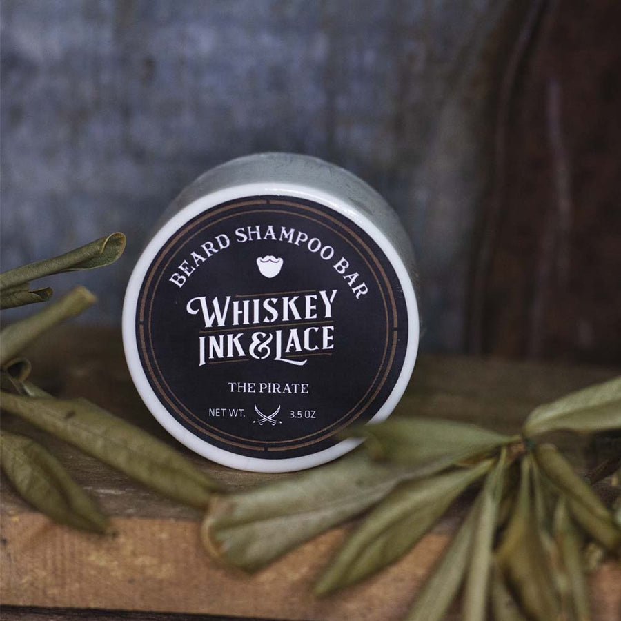 The Pirate Beard Shampoo Bar - Whiskey, Ink, & Lace