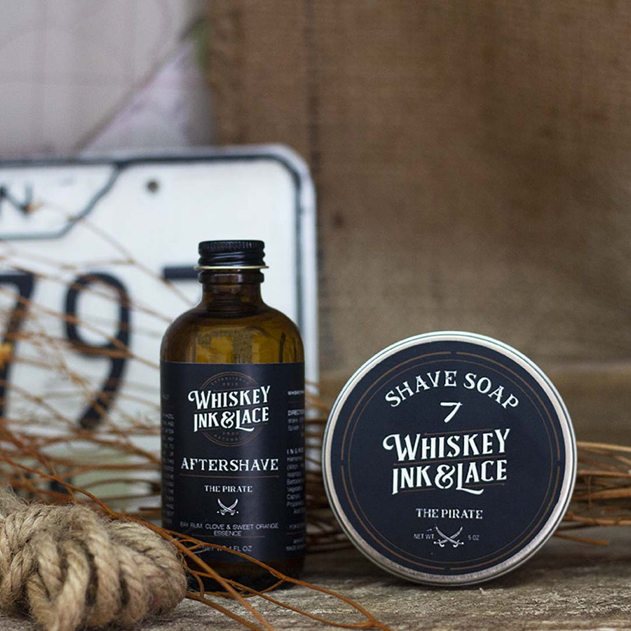 The Pirate Shave Kit - Whiskey, Ink, & Lace