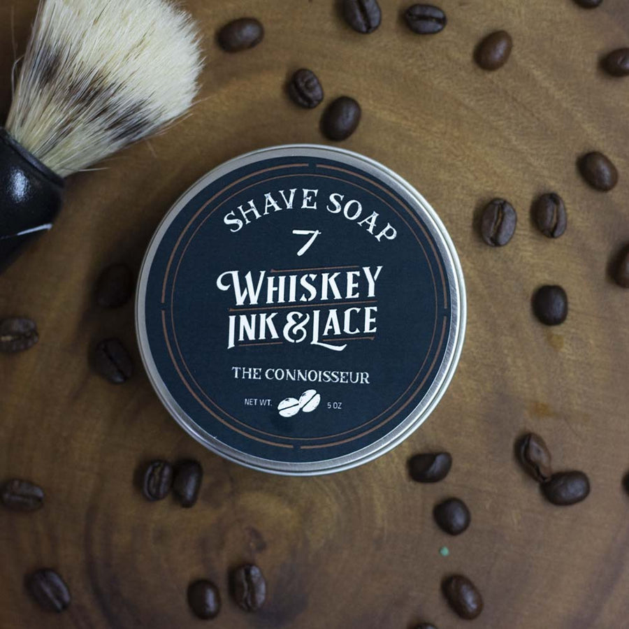 The Connoisseur Shave Soap - Whiskey, Ink, & Lace