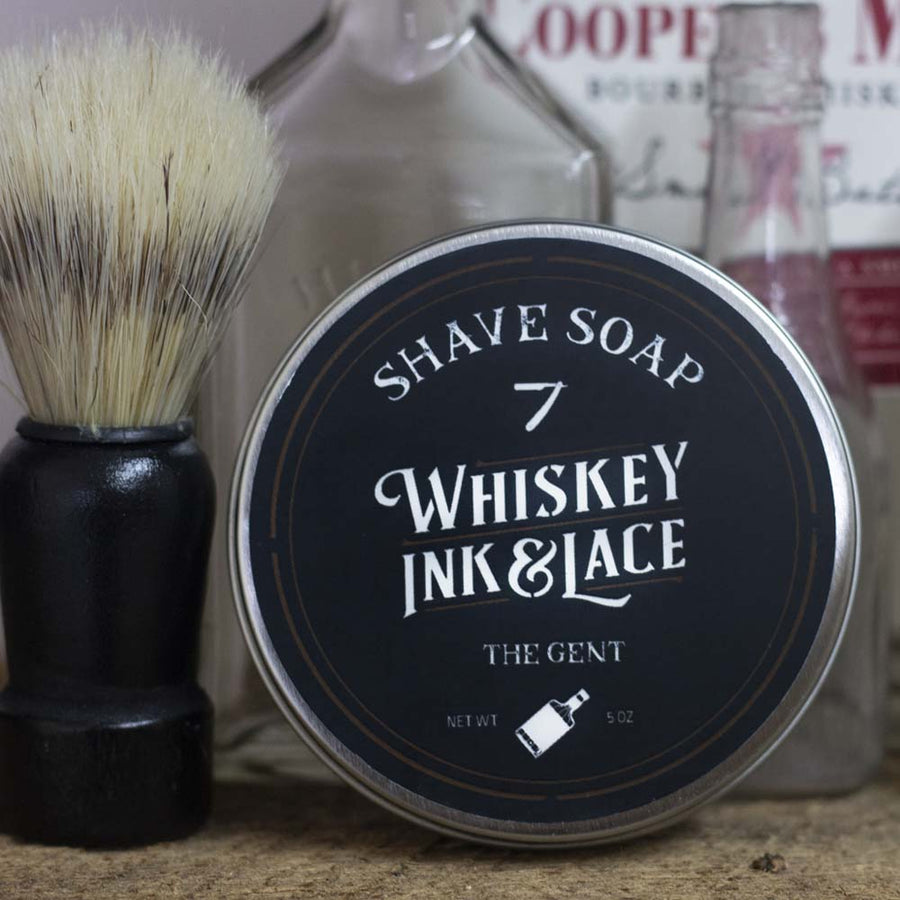 The Gent Shave Soap - Whiskey, Ink, & Lace