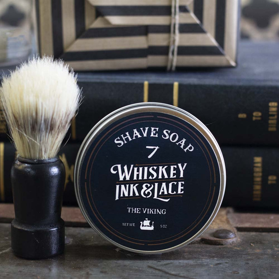The Viking Shave Soap - Whiskey, Ink, & Lace