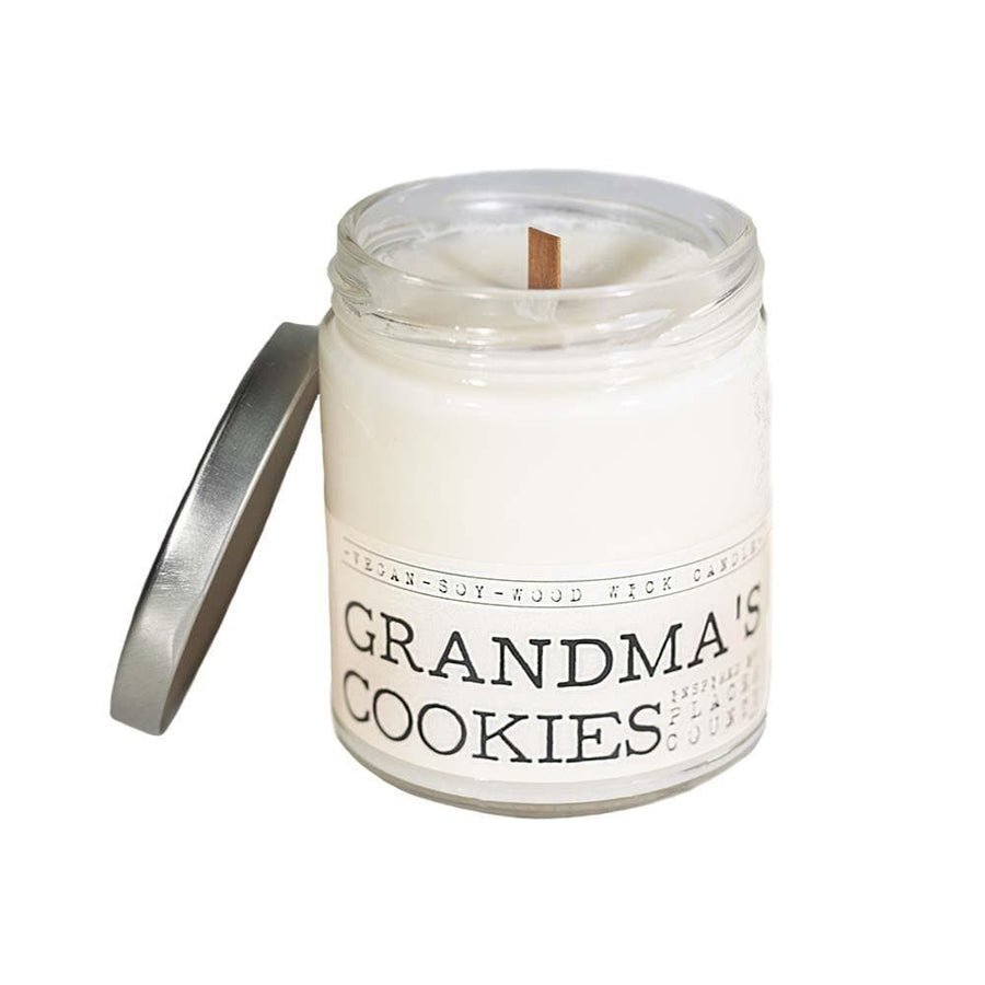 Grandma's Cookies Wood Wick Candle - Whiskey, Ink, & Lace