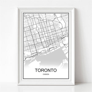 Toronto Colorful City Map Poster