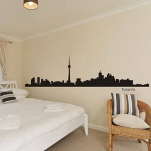 Toronto City Skyline Wall Decal