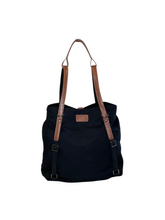 ARCH Original Nappy Bag - Black with Vegan Leather Straps