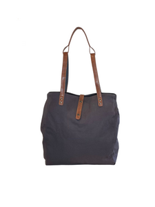 ARCH Original Nappy bag- Grey with Vegan Leather Straps