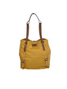 ARCH Original Nappy bag- Mustard with Vegan Leather Straps