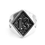 Silver Lucky 13 Ring - The Skull Crown - Express Yourself With Bold Jewelry