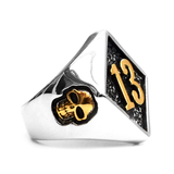 Lucky 13 Ring - The Skull Crown - Express Yourself With Bold Jewelry