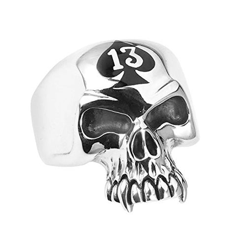 Lucky 13 Skull Ring - The Skull Crown - Express Yourself With Bold Jewelry