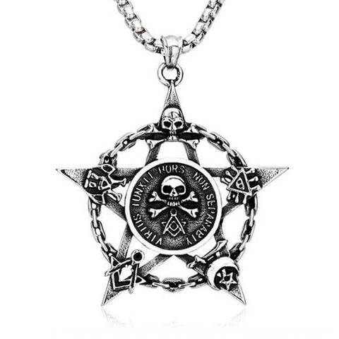 Masons Skull Necklace - The Skull Crown - Express Yourself With Bold Jewelry