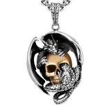 Dragon Skull Necklace - The Skull Crown - Express Yourself With Bold Jewelry