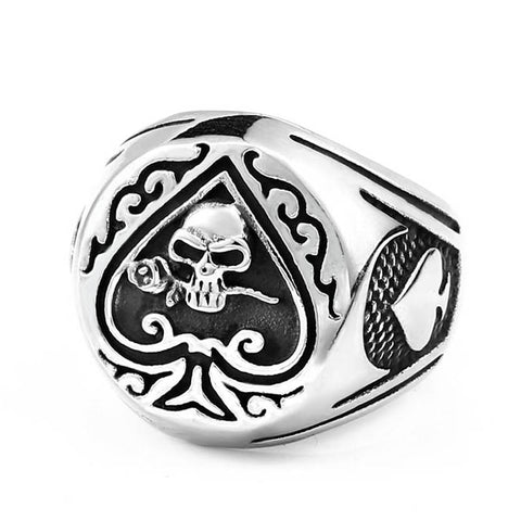 Skull Ace Ring - The Skull Crown - Express Yourself With Bold Jewelry