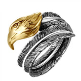 Eagle Feather Ring - The Skull Crown - Express Yourself With Bold Jewelry