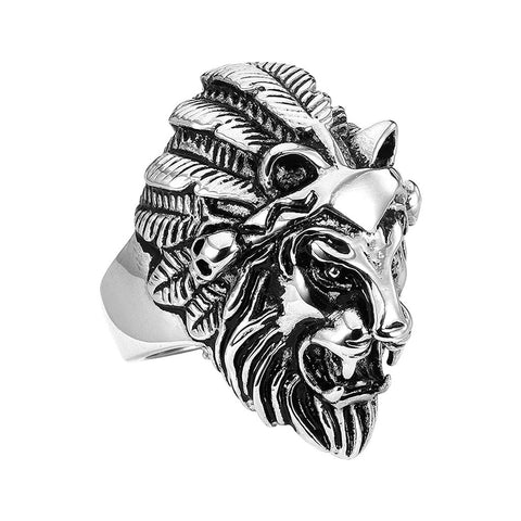 Lion Chief Ring - The Skull Crown - Express Yourself With Bold Jewelry