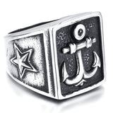 Retro Anchor Star Ring - The Skull Crown - Express Yourself With Bold Jewelry