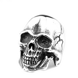Cracked Skull Ring - The Skull Crown - Express Yourself With Bold Jewelry