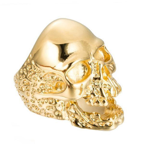 Gold Melting Skull Ring - The Skull Crown - Express Yourself With Bold Jewelry