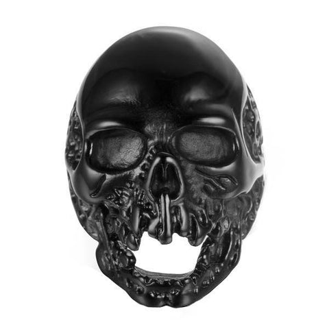 Black Melting Skull Ring - The Skull Crown - Express Yourself With Bold Jewelry