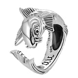 Lucky Silver Koi Ring - The Skull Crown - Express Yourself With Bold Jewelry