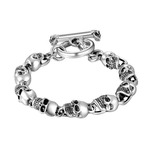 Hanging Skulls Bracelet - The Skull Crown - Express Yourself With Bold Jewelry