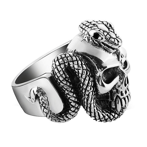 Snake Skull Ring - The Skull Crown - Express Yourself With Bold Jewelry