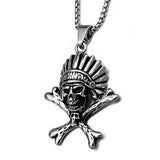 Chief Skull Necklace - The Skull Crown - Express Yourself With Bold Jewelry