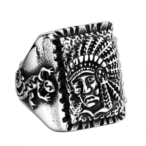 Native Chief Ring - The Skull Crown - Express Yourself With Bold Jewelry
