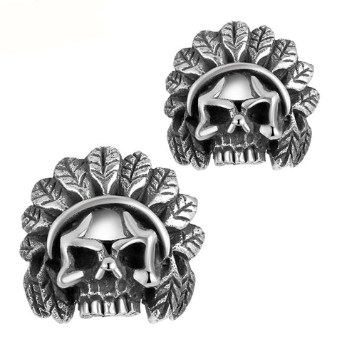 Native Skull Earrings - The Skull Crown - Express Yourself With Bold Jewelry