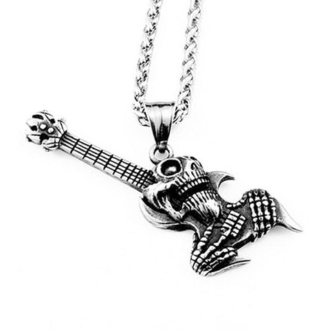Skulled Guitar Necklace - The Skull Crown - Express Yourself With Bold Jewelry