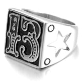 Lucky 13 Star Ring - The Skull Crown - Express Yourself With Bold Jewelry