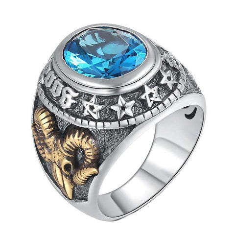 Blue Totem Ring - The Skull Crown - Express Yourself With Bold Jewelry