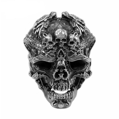 Fire Skull Ring - The Skull Crown - Express Yourself With Bold Jewelry
