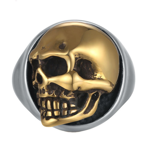 Rose Gold Skull Ring - The Skull Crown - Express Yourself With Bold Jewelry