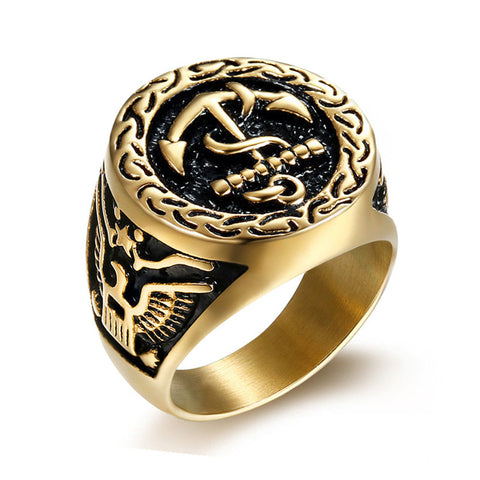 Eternal Anchor Ring - The Skull Crown - Express Yourself With Bold Jewelry