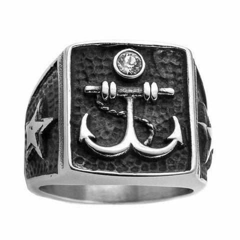 Star Anchor Ring - The Skull Crown - Express Yourself With Bold Jewelry